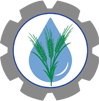 Irrigation Automation icon - waterdrop and plant in gear